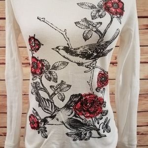 Lucy Tops - Lucy Thermal Long Sleeve Birdie Top